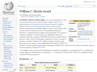 William c. morris ya award